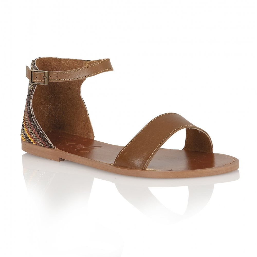 5a49e85b03214a Buy Ravel ladies Wichita flat sandals in whitebrown leather