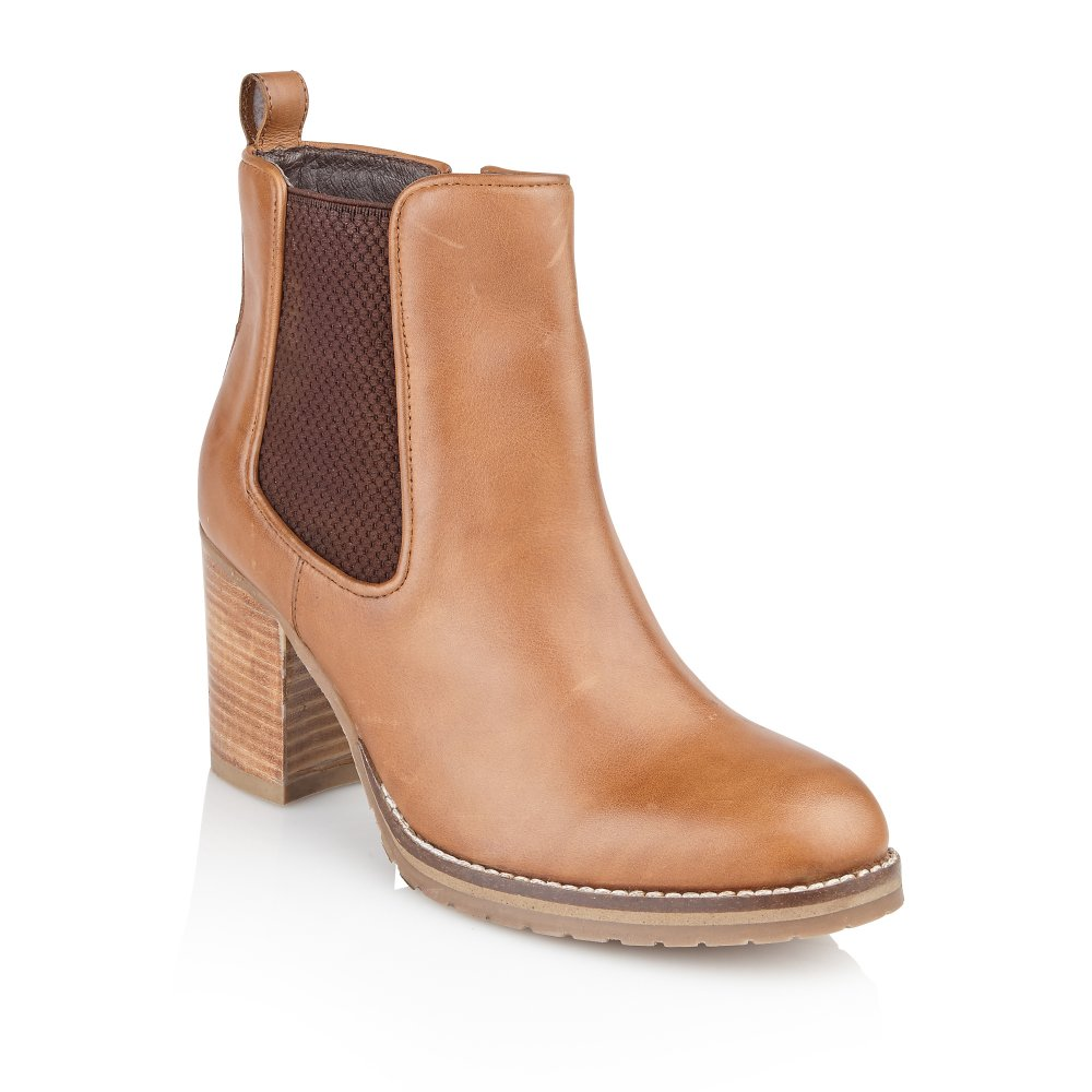 Buy Ravel ladies' Newark ankle boots online in tan leather