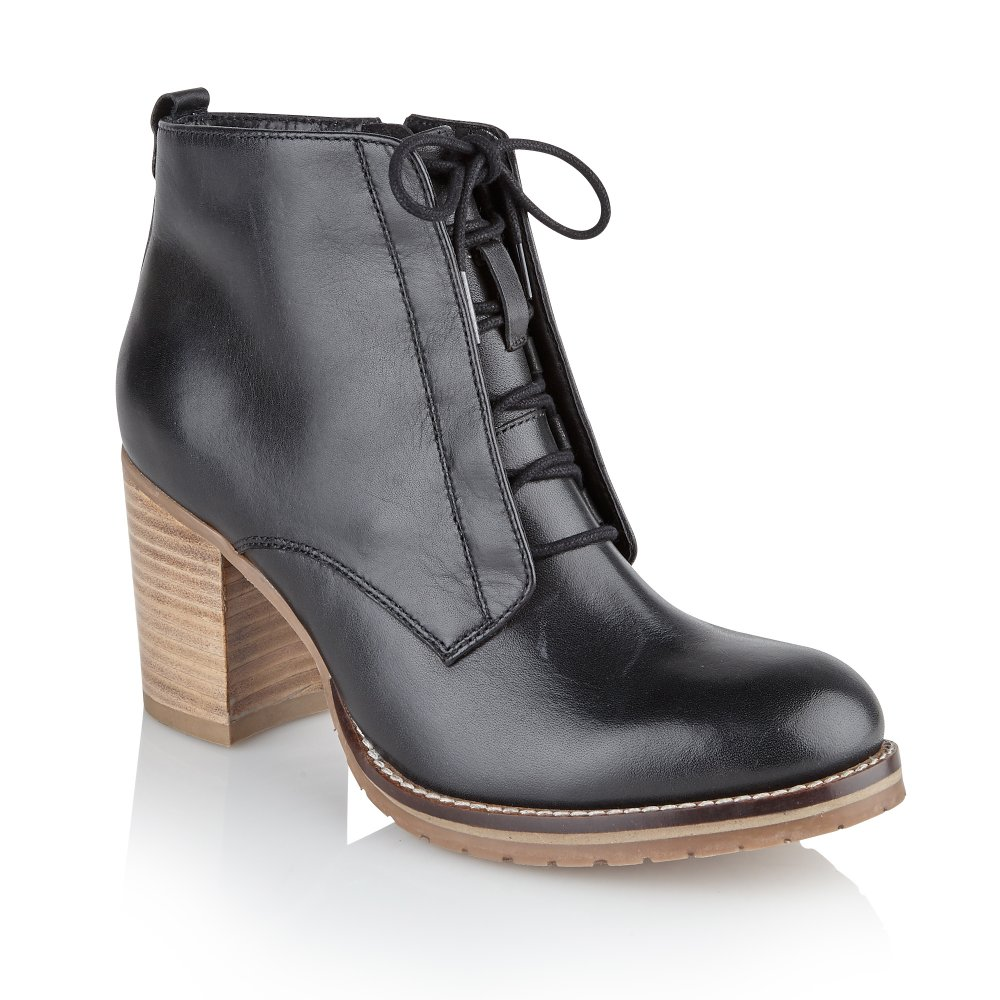 Ravel Toronto Ankle Boots Black Leather