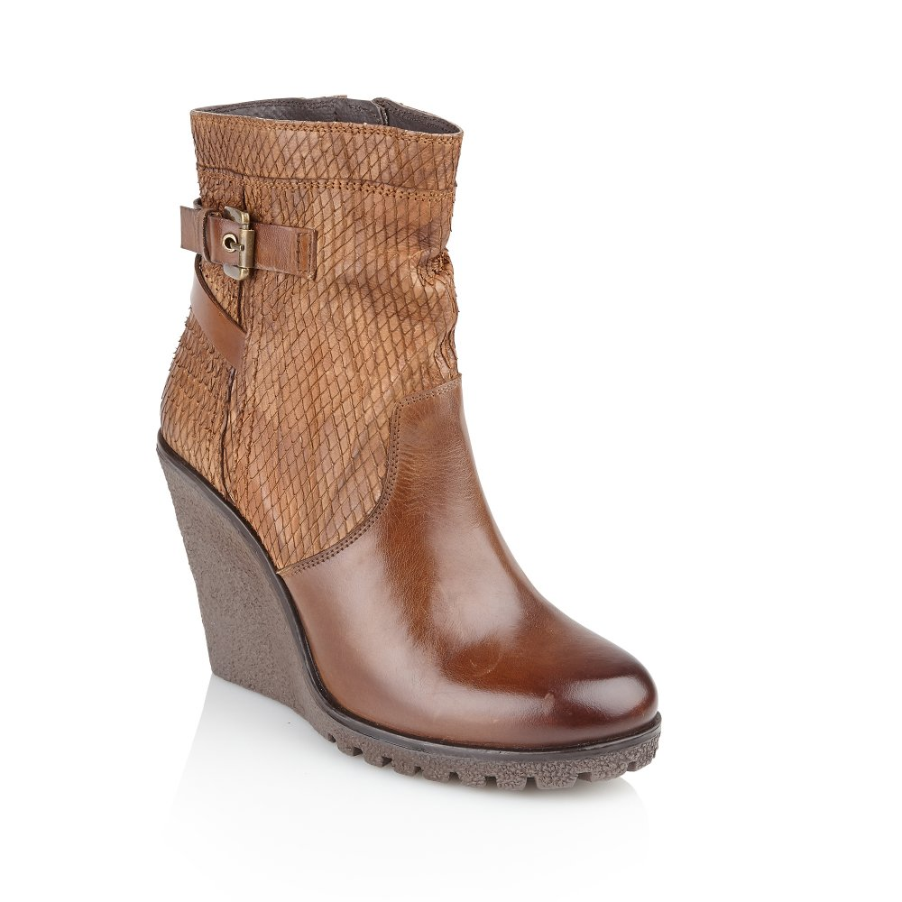 buy ravel honolulu ankle boots in honey leather