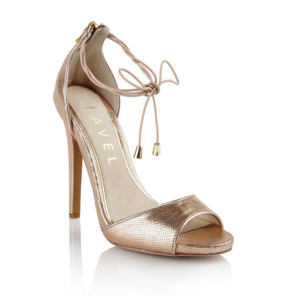 Buy Ravel ladies Milwaukee heeled sandals online in rose gold