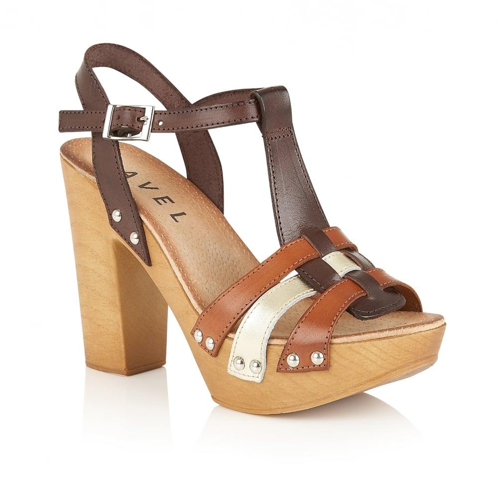 fb57fc586b8 Buy Ravel ladies  Berwick platform sandals online in brown leather