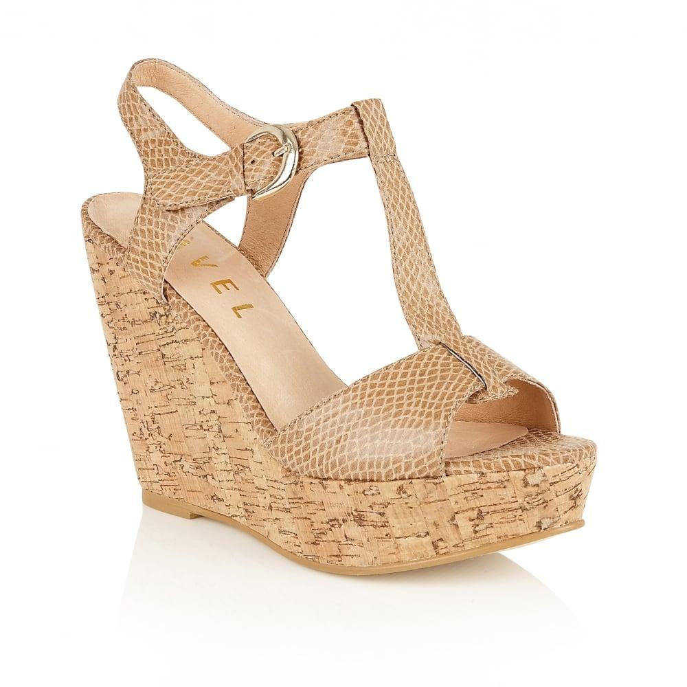 1719f05ae5d0 Buy Ravel ladies  Westport wedge sandals online in Ecru snake