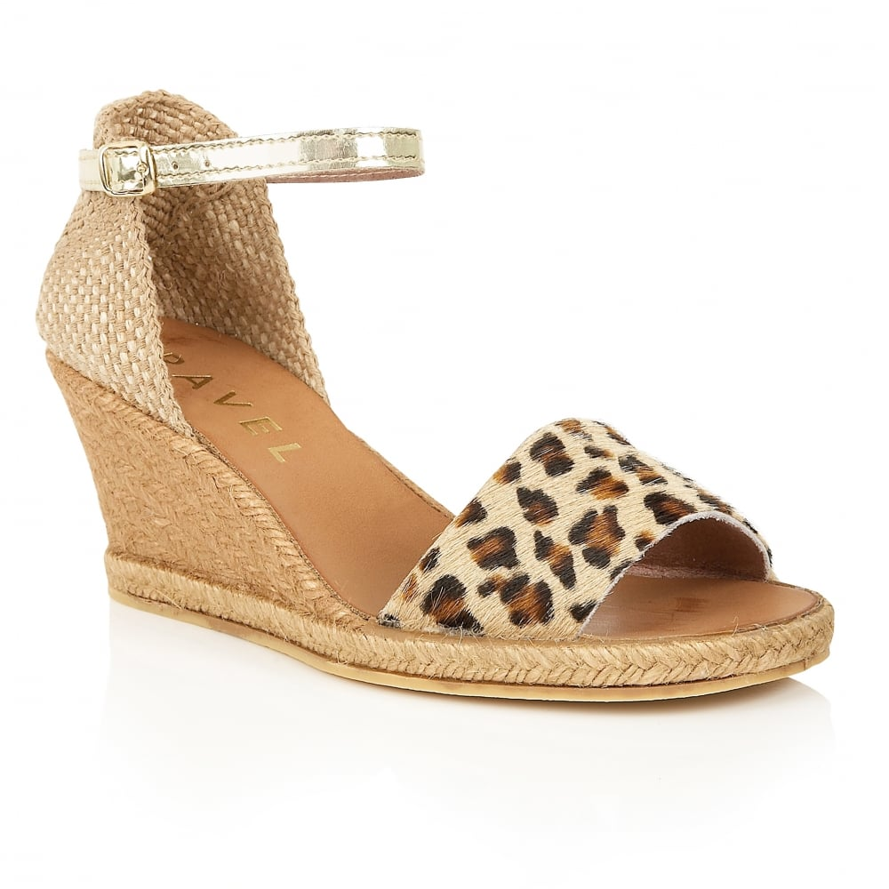 Leopard Wedge Shoes For Sale