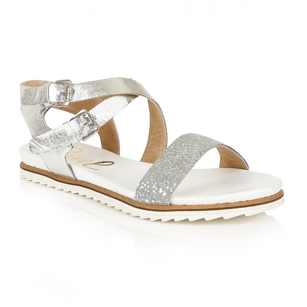 Buy Ravel ladies' Torrington sandals in silver leather