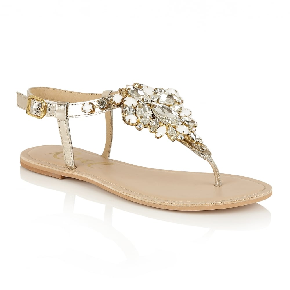 Buy Ravel ladies' Redvale jewelled flat sandals online in ...