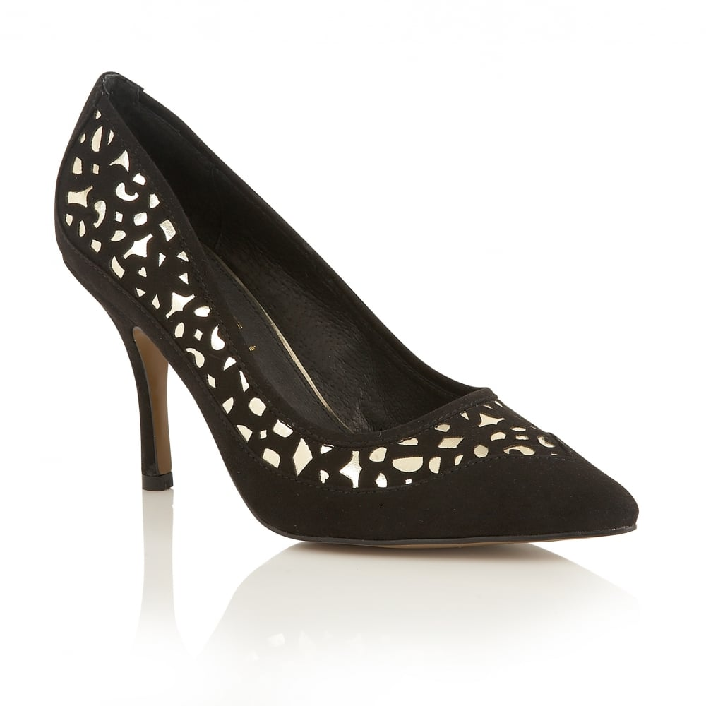 Buy Ravel Ladies Borden Court Shoes Online In Black And Gold