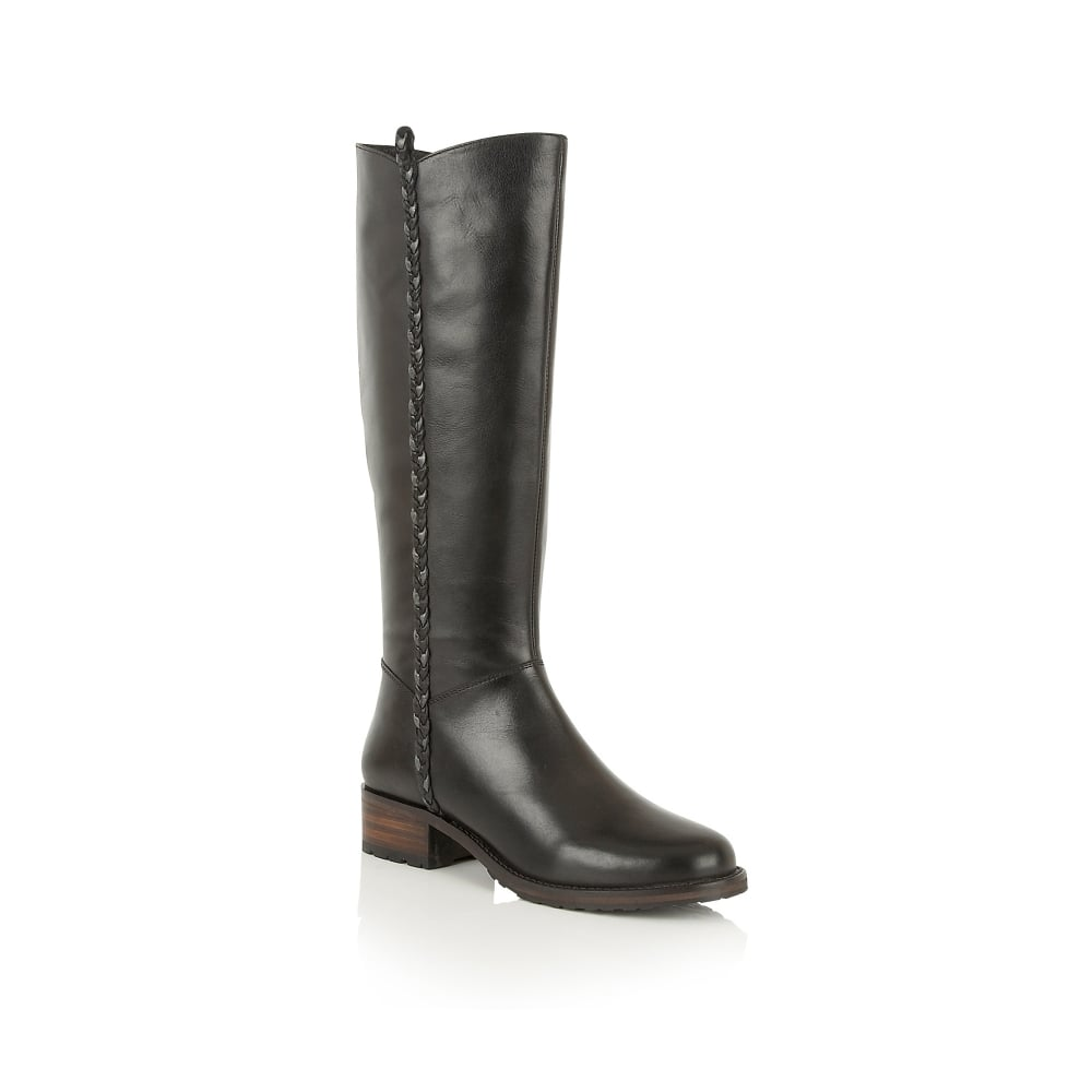 Buy Ravel ladies Webb knee high boots online in black leather
