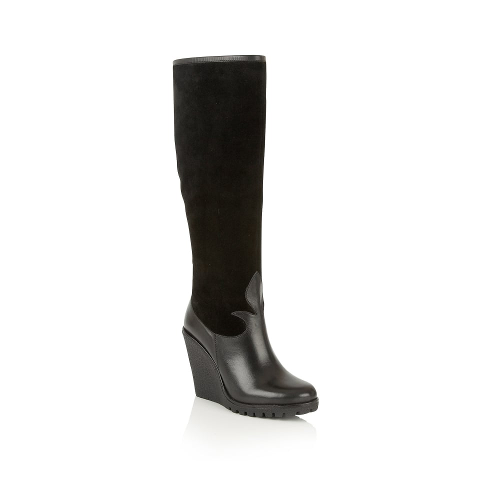 buy ravel gaines knee high wedge boots in