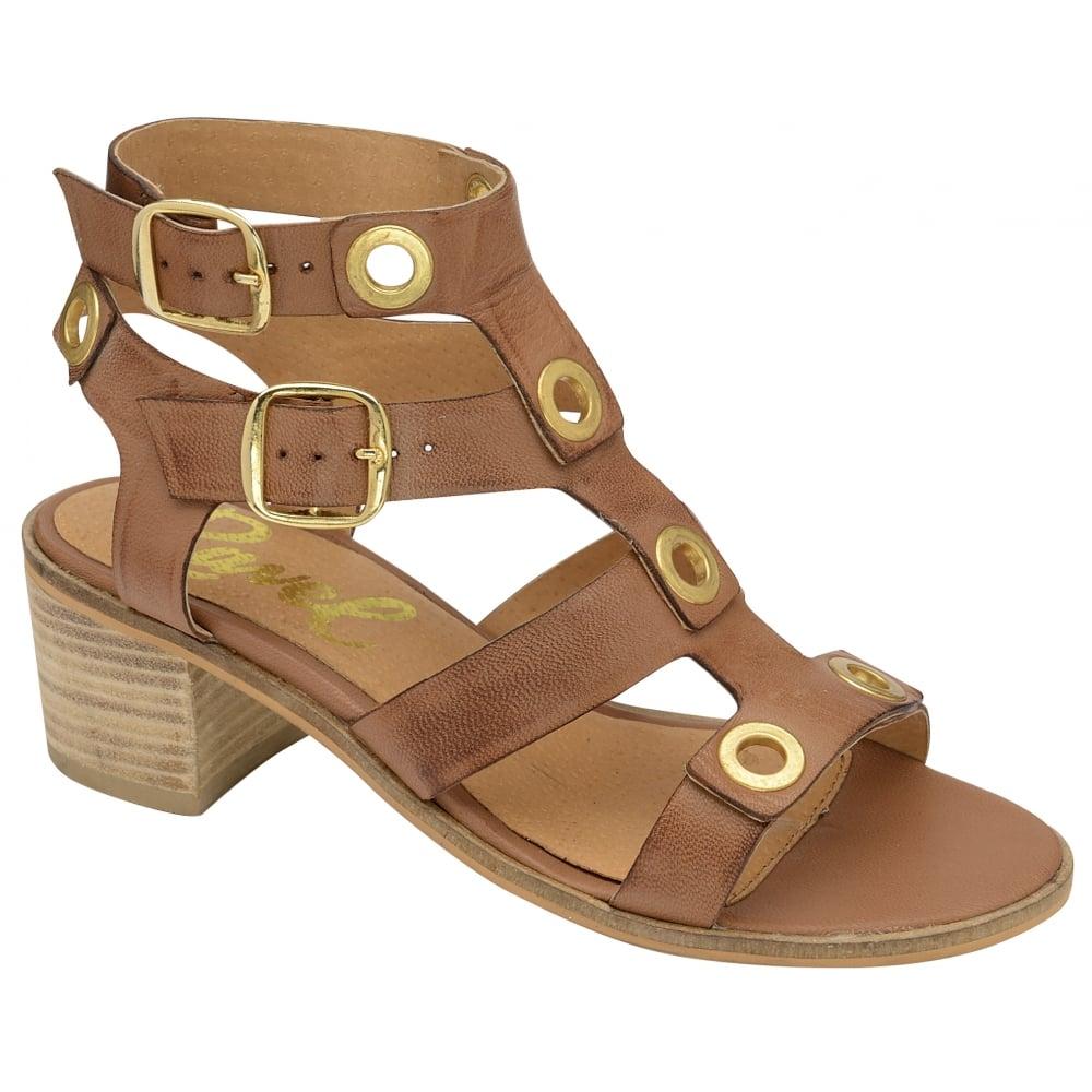 Buy Ravel ladies' Atlanta heeled sandals online in Tan leather