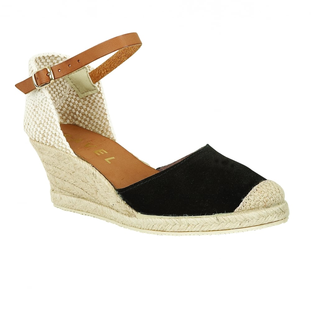 571219d7dfcf Buy Ravel ladies  Etna espadrille wedge sandals online in black