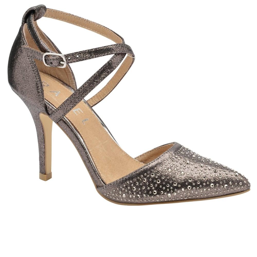 Pewter Or Metallic Flat Shoe