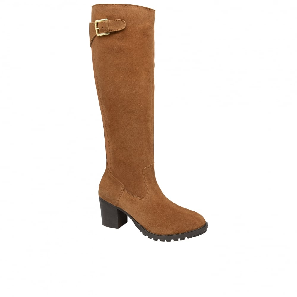 92b9576c163 Buy Ravel ladies Elberta knee high boots online in tan suede