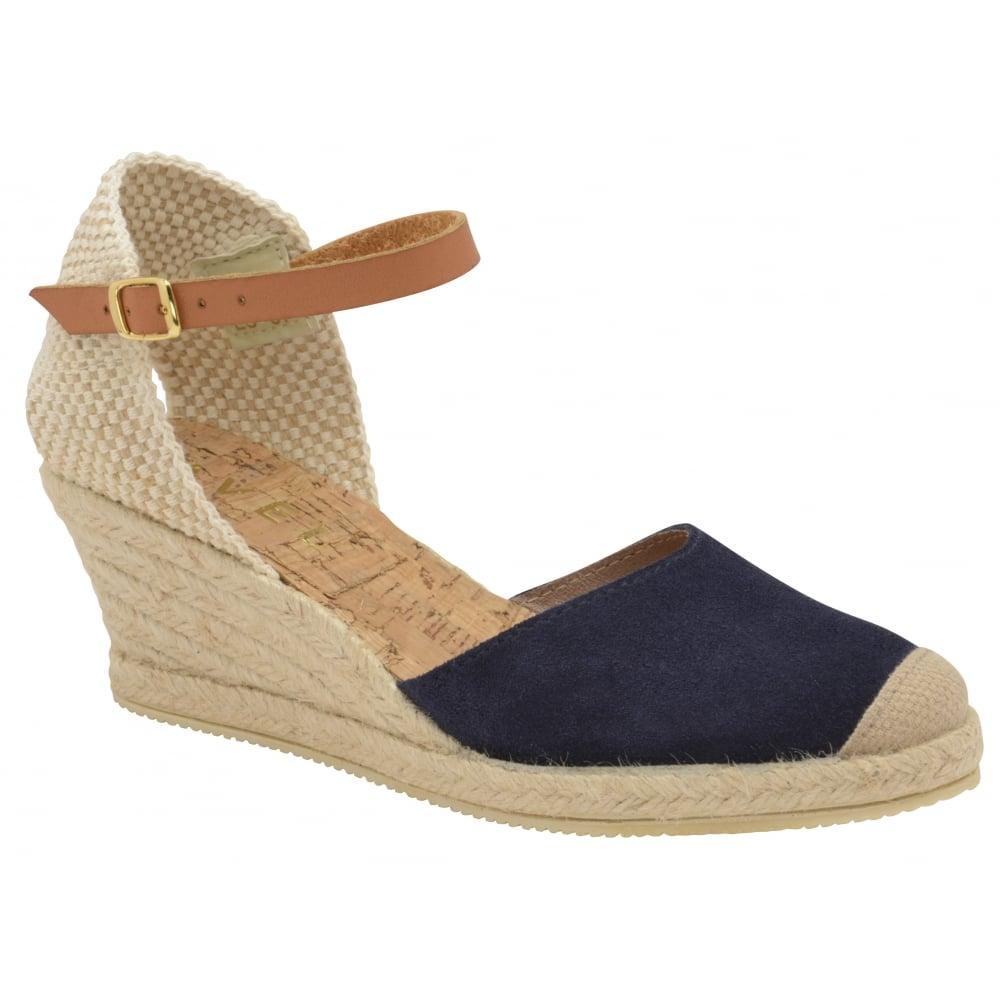 Buy Ravel ladies  Etna espadrille wedge sandals online in navy