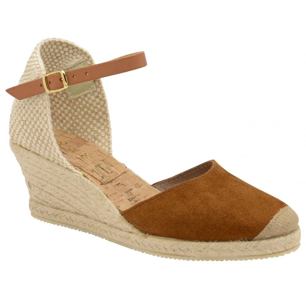 Ladies' Etna Wedge Tan In Buy Sandals Espadrille Online Ravel NX0PnOk8w