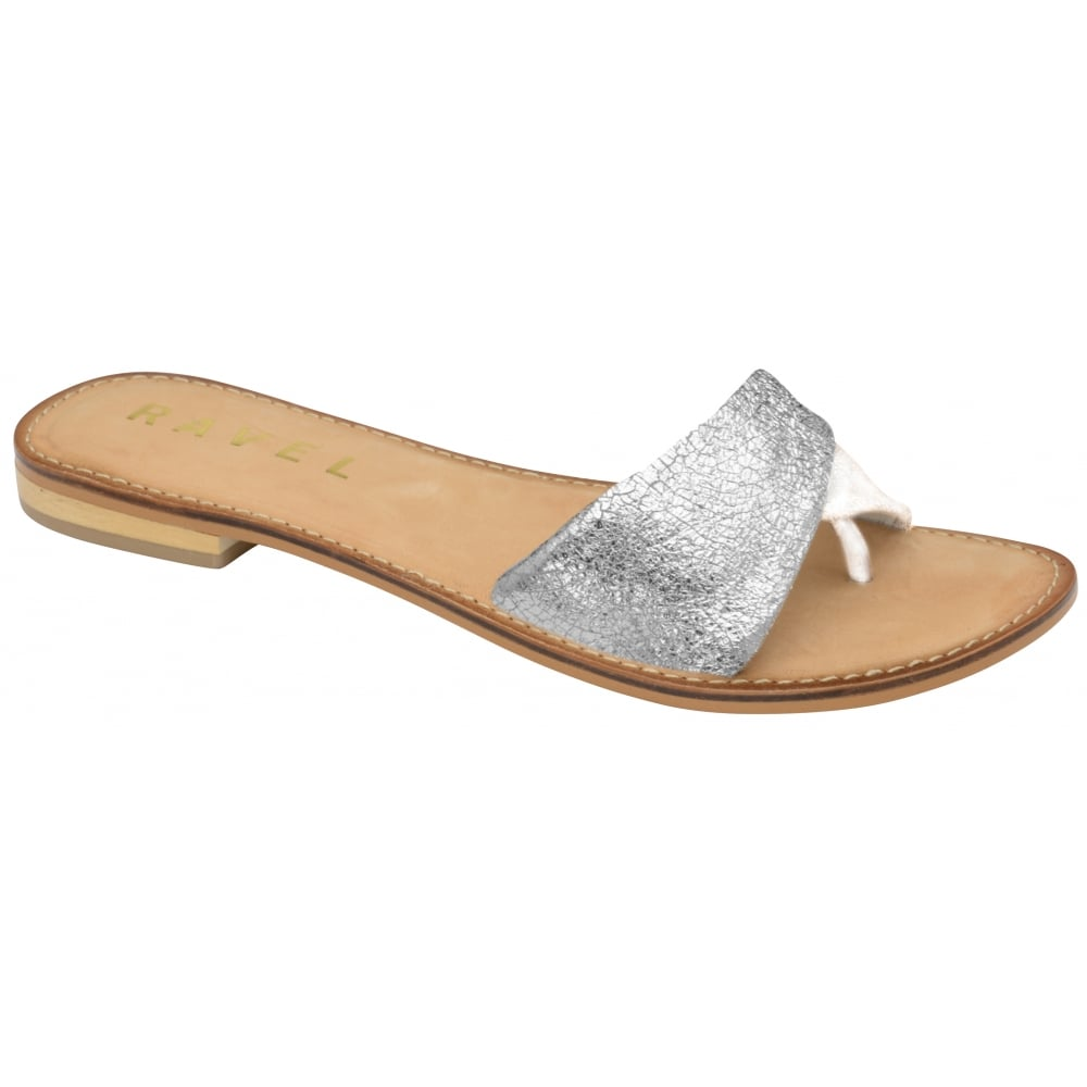 Buy Ravel ladies  Hatley flat sandals online in silver