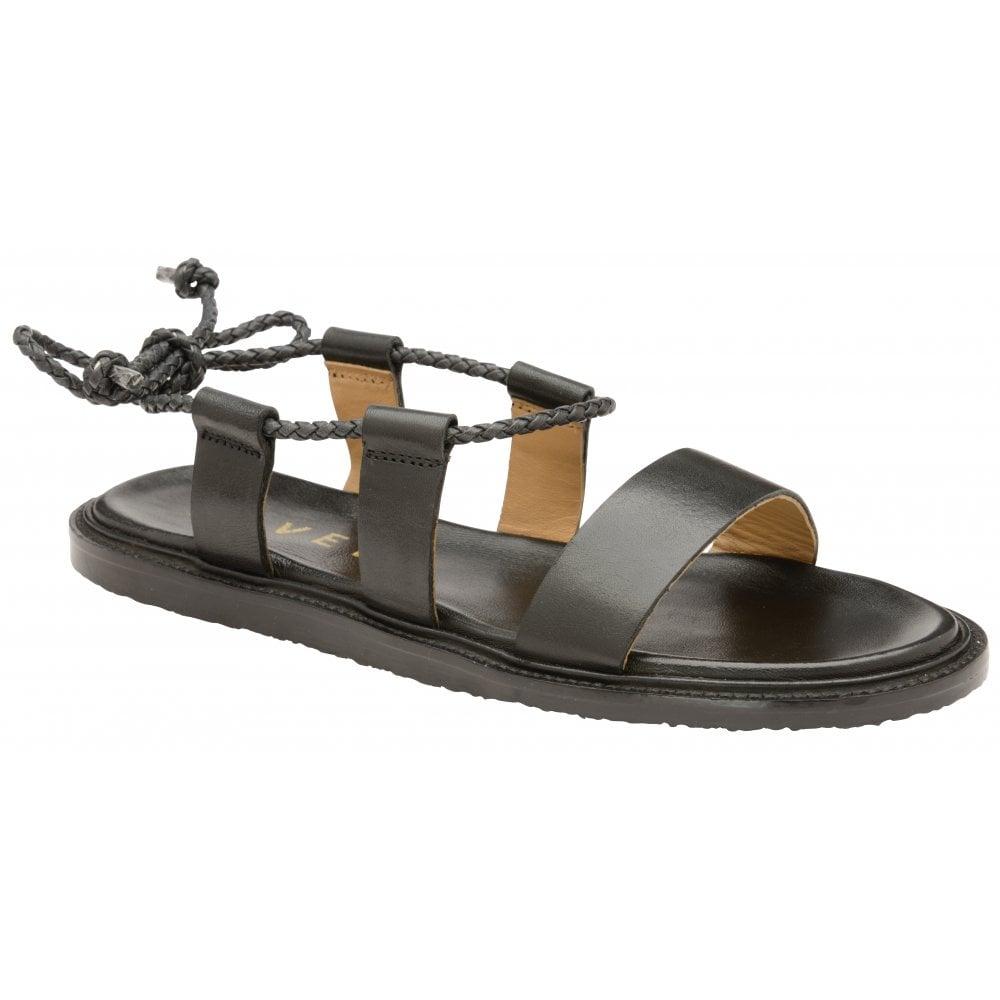 Black Leather Elma Leather Flat Black Elma SandalsRavel Flat cF1TlKJ3